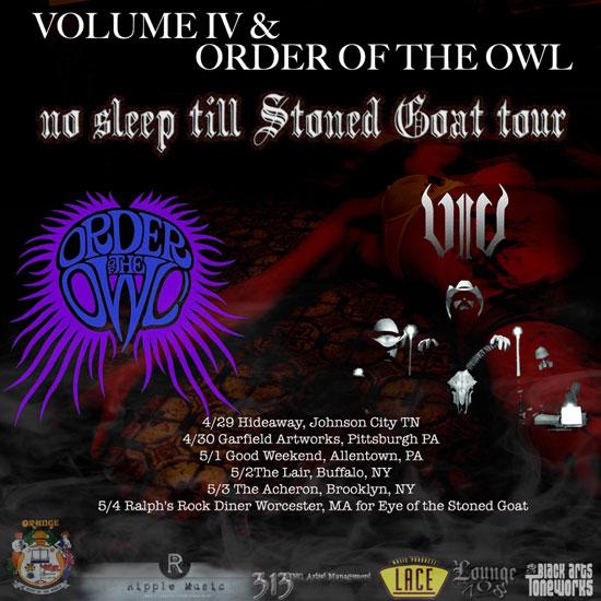 Volume IV / Order Of The Owl - US Tour 2014