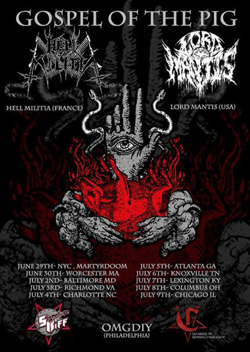 Lord Mantis / Hell Militia - US Tour 2014