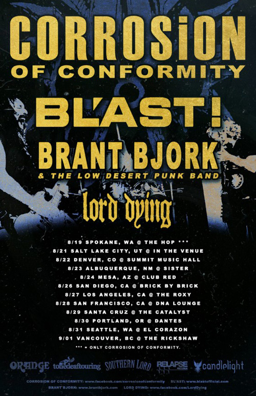 Corrosion Of Conformity - US Tour 2014