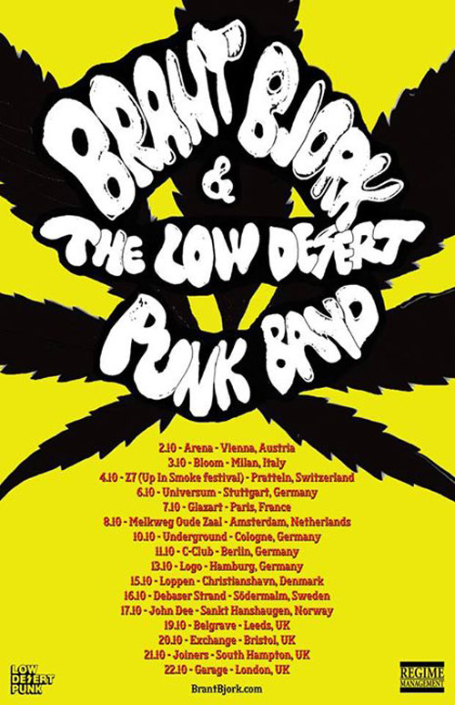 Brant Bjork And The Low Desert Punk Band - Euro Tour 2014