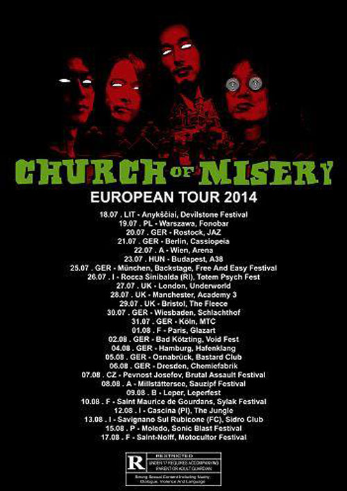 Church Of Misery - Euro Tour 2014