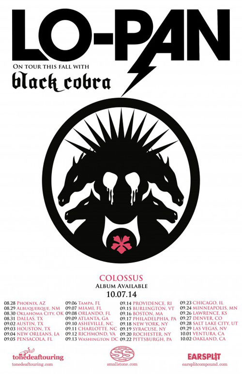 Lo-Pan with Black Cobra - US Tour 2014