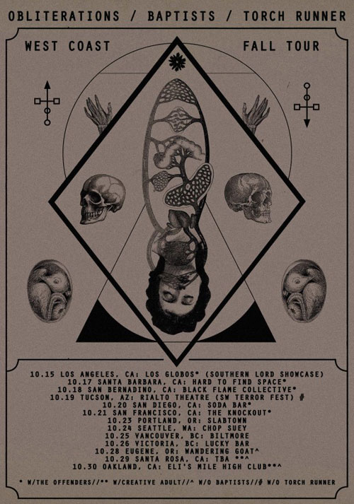 Obliterations - North America Tour 2014
