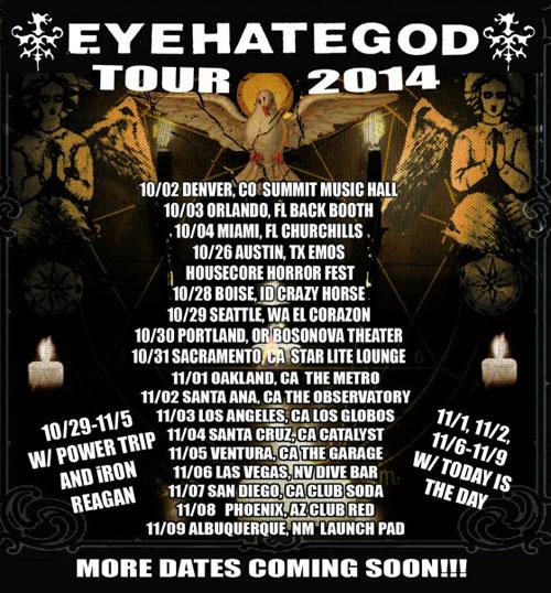 EyeHateGod - US Tour Fall 2014