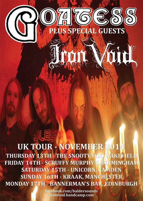 Goatess / Iron Void - UK Tour 2014