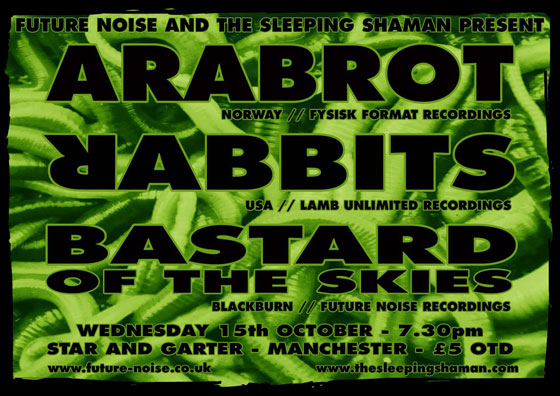 Årabrot / Rabbits / Bastard Of The Skies @ The Star & Garter, Manchester