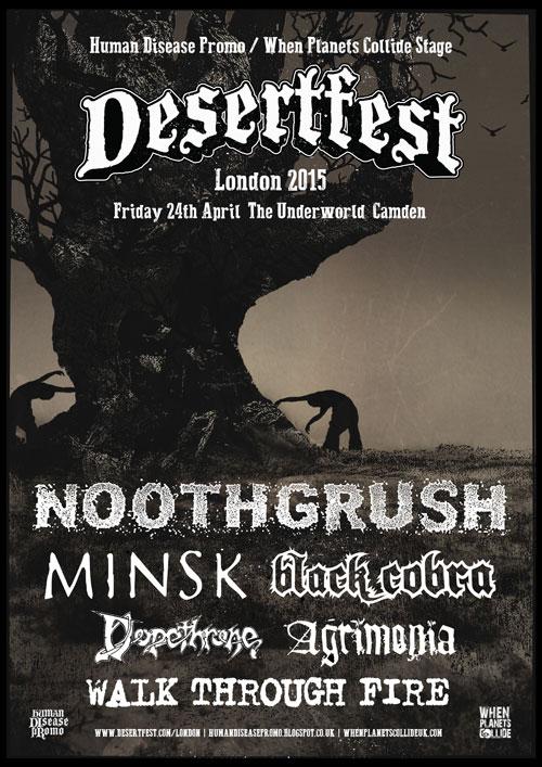 Desertfest London 2015 - Human Disease Promo / When Planet Collide Stage