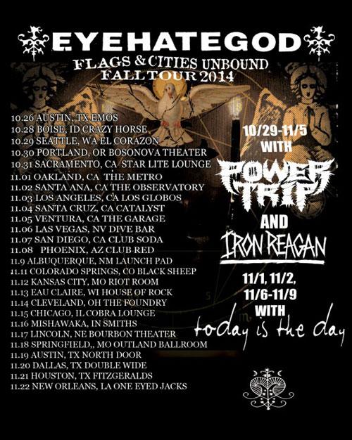 EyeHateGod - Fall US Tour 2014