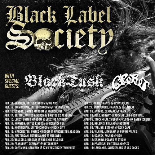 Black Label Society / Black Tusk - Euro Tour 2015