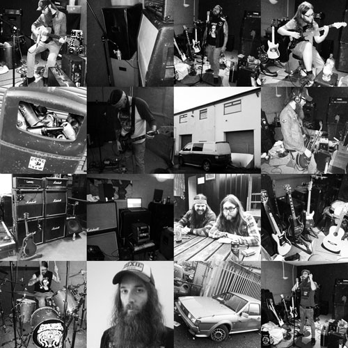 Spider Kitten 'Toker' Recording Collage