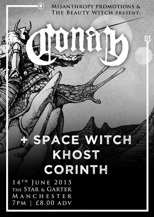 Conan / Space Witch / Khost / Corinth @ The Star And Garter, Manchester