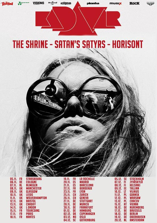 Kadavar / The Shrine / Satan's Satyrs / Horisont – Euro Tour 2015