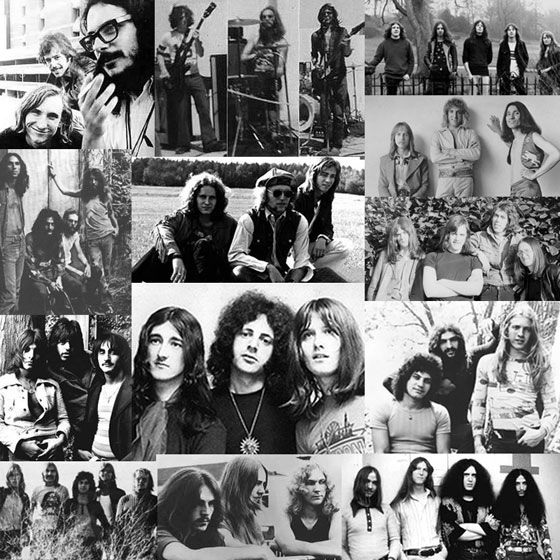 70s Proto-Metal Collage