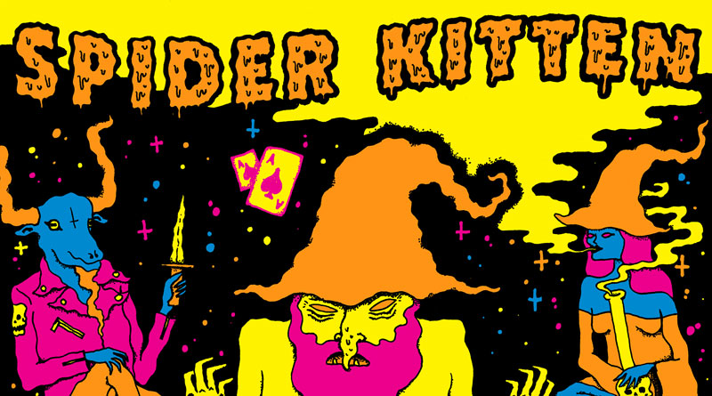 Spider Kitten 'Acidgoatweedwitchbongspacewizardwhore'