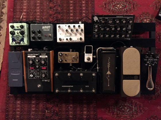 Nick DiSalvo of Elder - Guitar Pedal Board