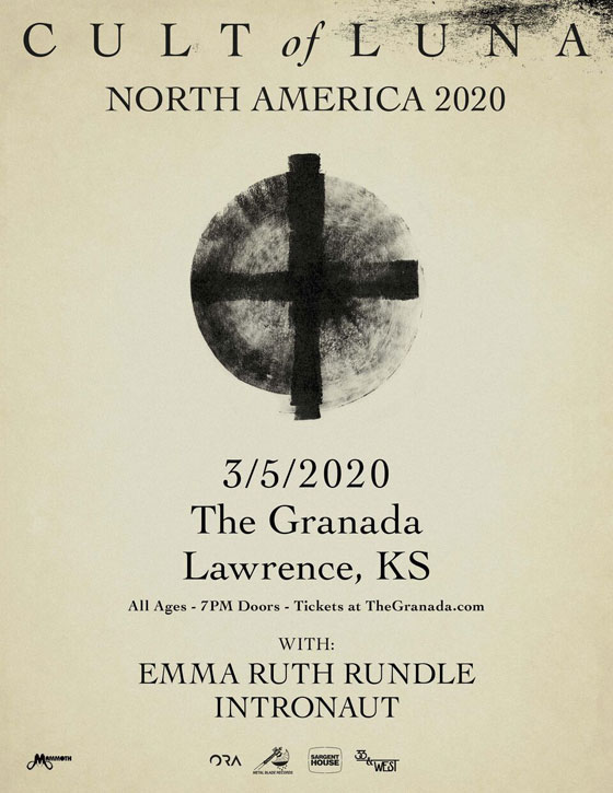 Cult of Luna / Emma Ruth Rundle @ The Granada Theater, Kansas City 03/05/2020