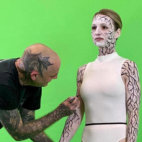 Svetlana Malinina - Behind the scenes of X'ed Out 'Bathe In It' video